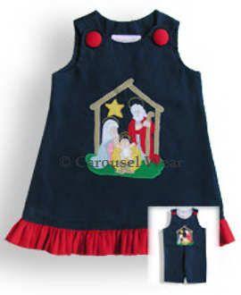Nativity girls dress applique