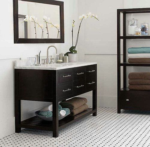 Web Photo Gallery expresso solid wood bathroom vanity with shelf at bottom nature marble top big bathroom