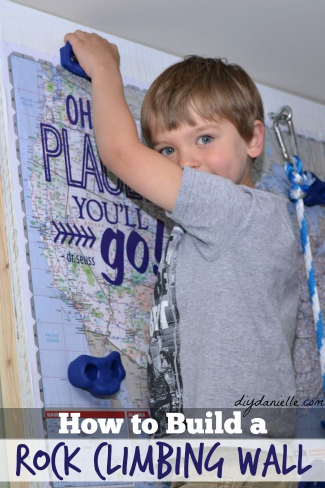 How to build an indoor rock climbing wall for a playroom for under $200.