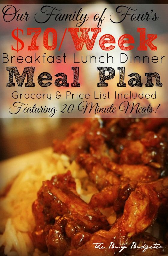budget meal plan for breakfast lunch and dinner for 70 week menu