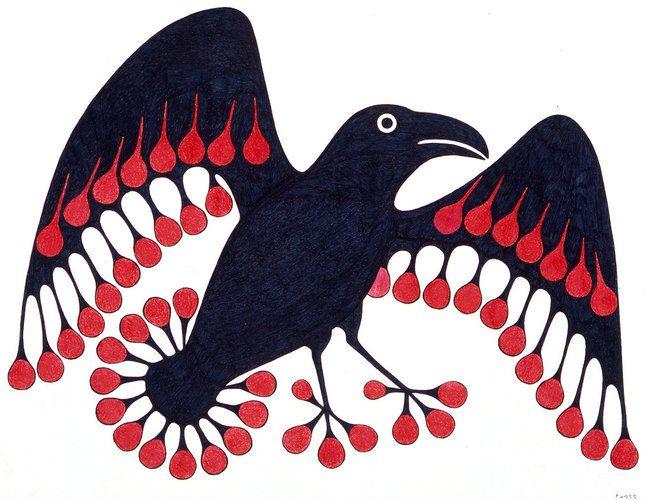 Molten Raven, by Kenojuak Ashevak (Inuit artist)