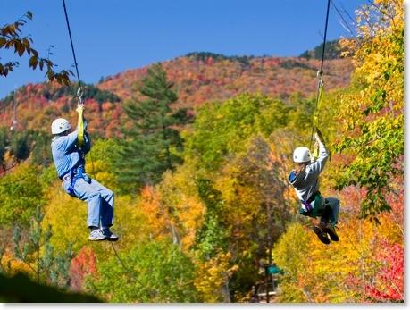 "Hunter Mountain NY zipline ""3,200-foot-long zip line at 50 miles per hour"""