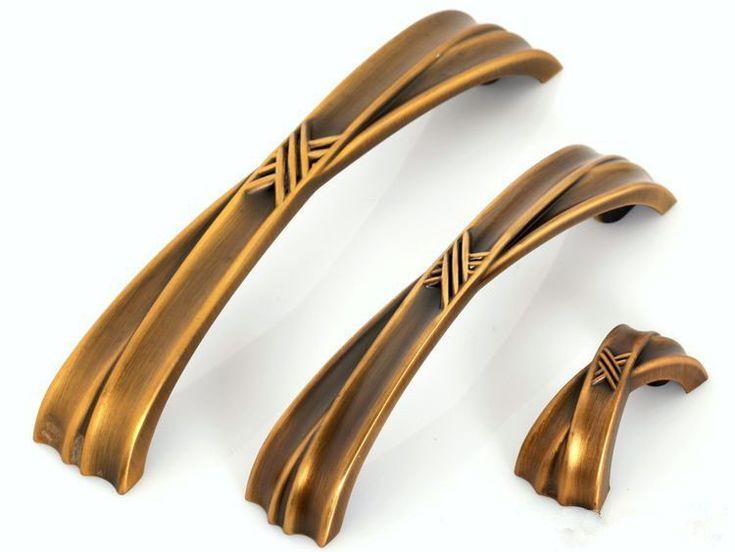 Dresser Pulls Drawer Pull Handles Antique Gold Brass / Cabinet Handles  Pulls Knobs Door Handle Cupboard - 191 Best Antique Knobs & Handles Images On Pinterest Cabinets