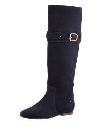 FALL 2013 MINIMALIST | Chloe Paddington Suede Flat Knee Boot, Navy