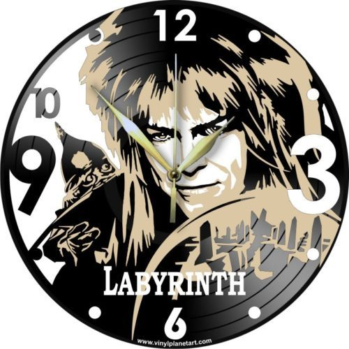VINYL-PLANET-Wall-Clock-DAVID-BOWIE-Labyrinth-Gift-Home-Record-Unique-Decor