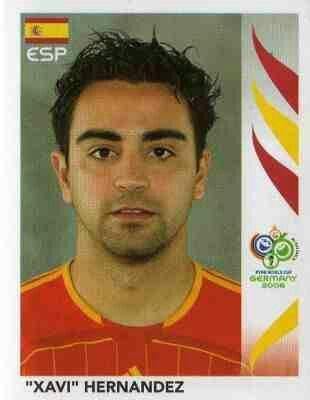 Xabi Hernandez of Spain. 2006 World Cup Finals card.