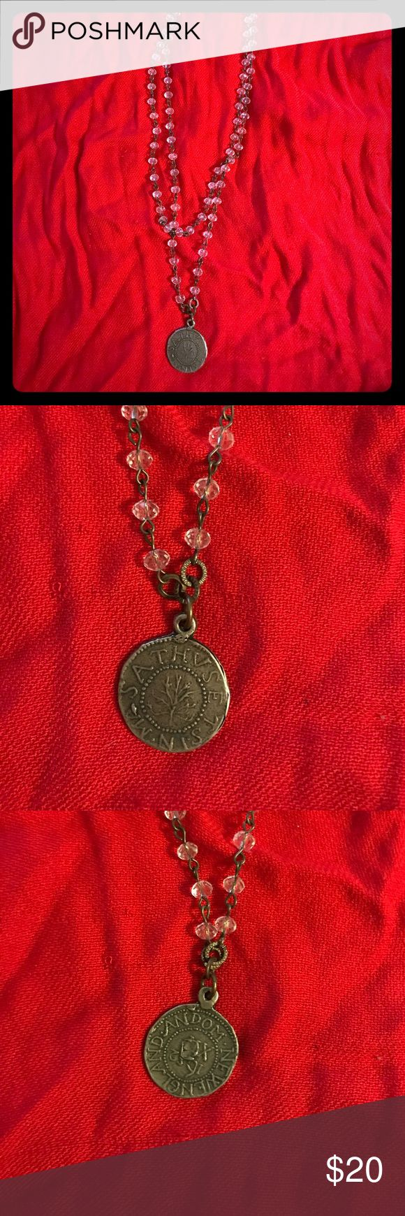 Layered coin necklace Layered coin necklace. The coin has two different impressions on each side so can wear either way. Jewelry Necklaces