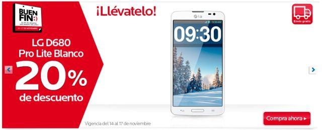 Ofertas Buen Fin: 20% de descuento en Telcel LG D680 Pro Lite Blanco, en Coppel. Buen Fin, del 14 al 17 noviembre de 2014. #Promo #BuenFin