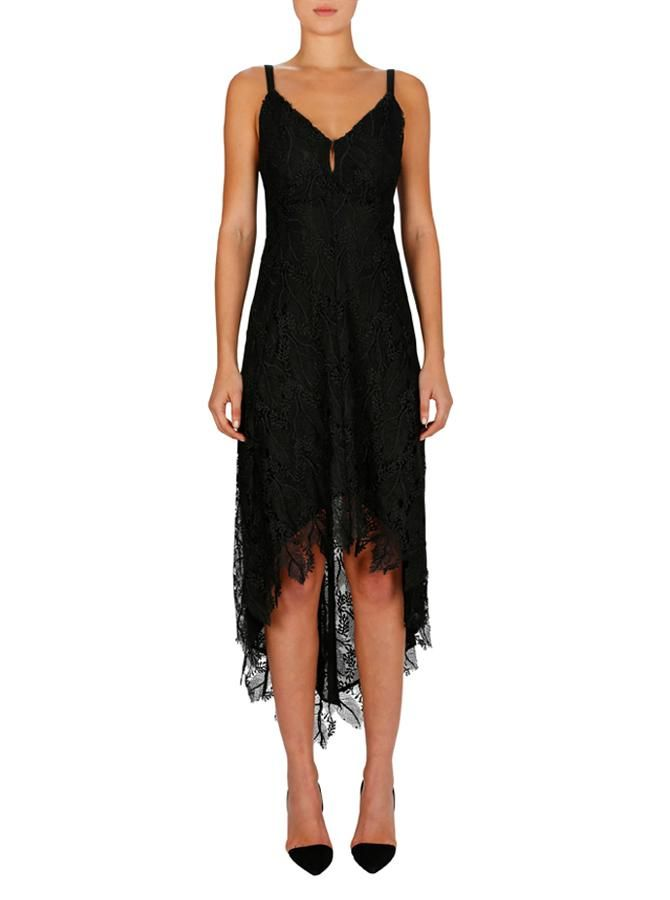 Luxe Deluxe - Edge Of The Night Tie Back Dress - Black