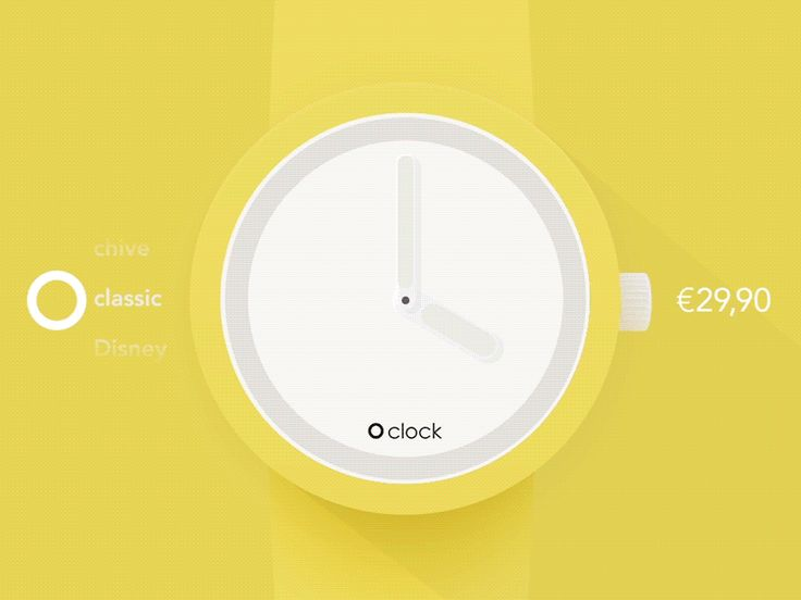 O'clock app (concept) Gif by Pavel Proshin