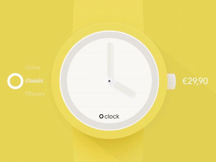 O'clock app (concept) Gif