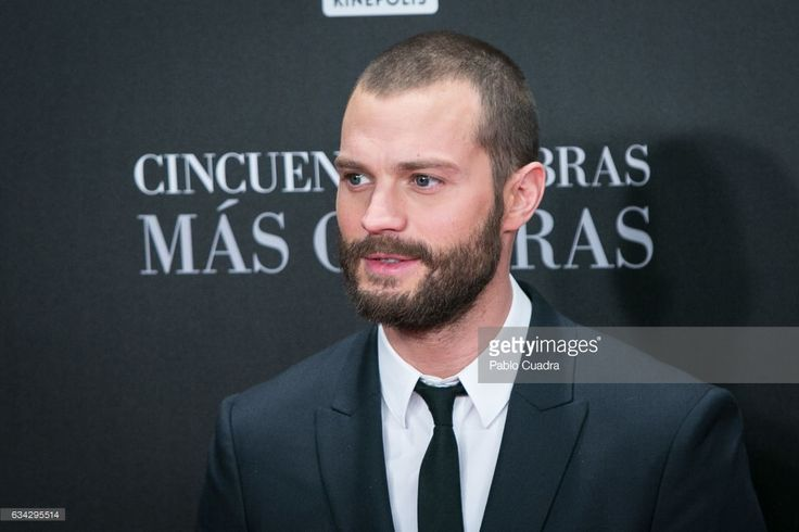 Actor Jamie Dornan attends the 'Fifty Shades Darker' premiere at Kinepolis Cinema on February 8, 2017 in Madrid, Spain.