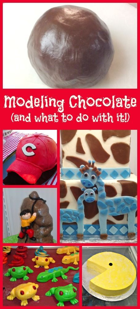 How to make modeling chocolate and what to do with it!