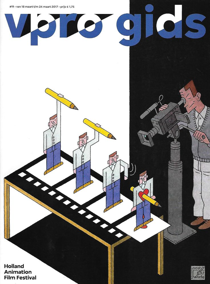 Cover VPRO TV Guide March 18 2017 by Joost Swarte