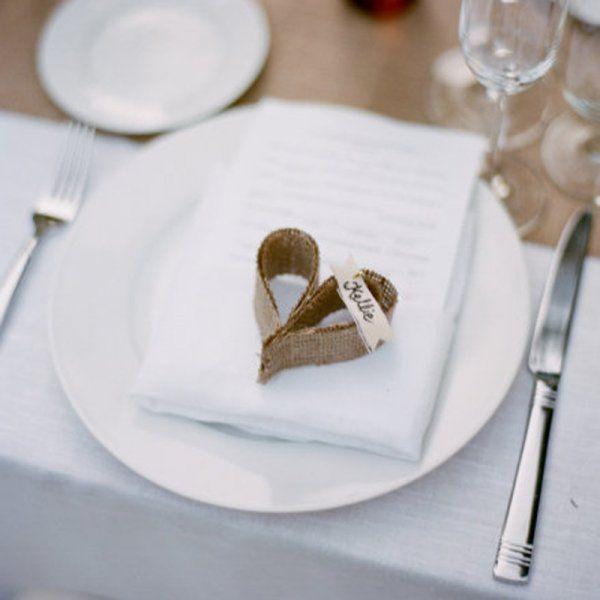 Les 25 meilleures id es de la cat gorie mariage primitif sur pinterest supp - Idee marque place mariage ...