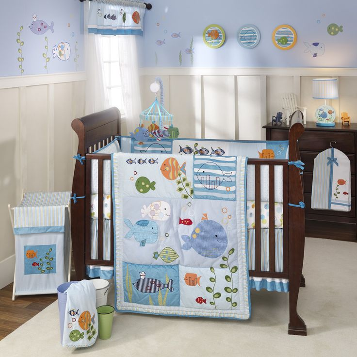 Ocean Theme Nursery Ideas Under The Sea Baby Crib Bedding