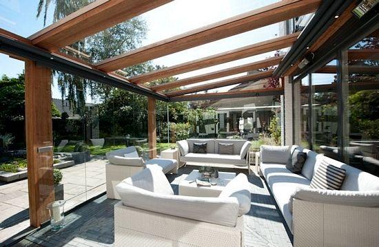 Houten terrasoverkappingen met glas   Jumbo Terrasoverkappingen
