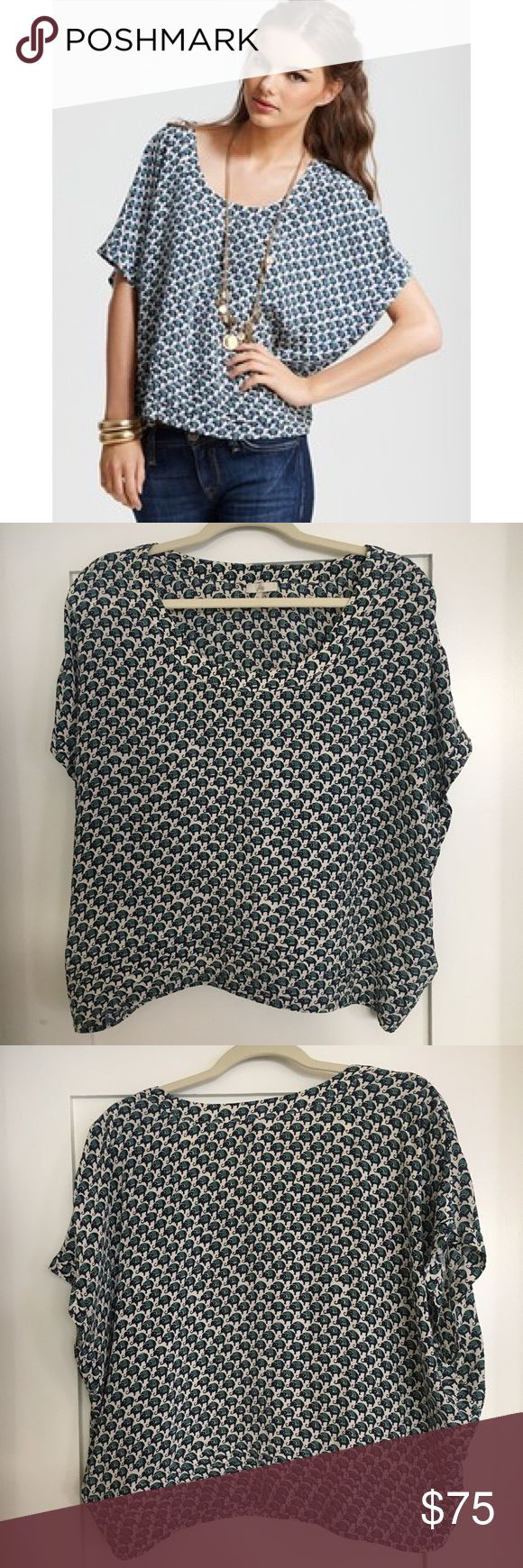 Joie Jan Savory Silk Elephant Printed Top, Medium Beautiful, 100% silk Joie elephant print top in fantastic condition! A retro elephant print lends lighthearted charm to this wide-bodied silk top from Joie. Team with your favorite skinnies for a chic off-hours look. Joie Tops