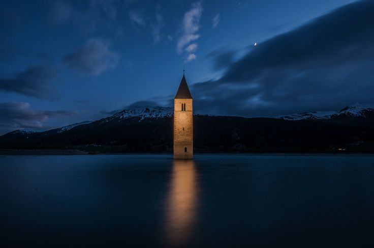 Resia Lake by night by Mauro S on 500px