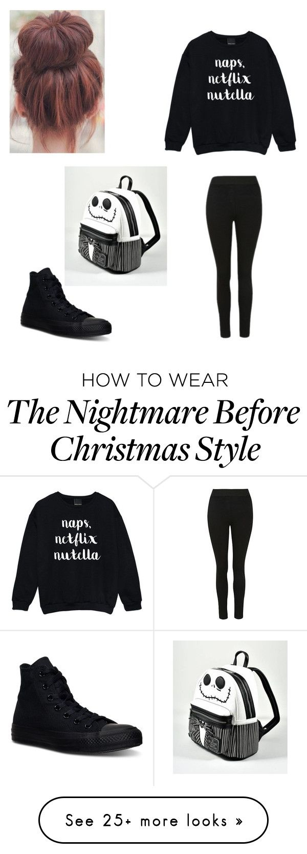 """""""School Outfit for trinity"""" by averymullins13 on Polyvore featuring Converse and Loungefly"""