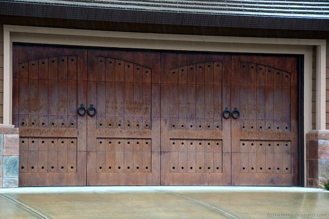 1000 images about rustic garage on pinterest garage for Rustic wood garage doors