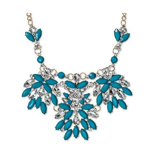 Sugarfix by BaubleBar Floral Bib Necklace ($15) ❤ liked on Polyvore featuring jewelry, necklaces, teal, teal jewelry, floral jewelry, chain bib necklace, chain necklace and teal necklace