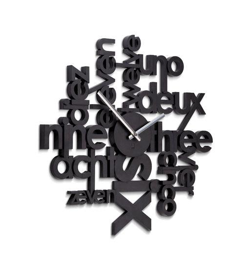 Lingua Wall Clock, $49.99Art Decor, Decor Ideas, Lingua Wall, Decor Inspiration, Eclectic Clocks, Wall Clocks, Umbra Lingua, Products, Design