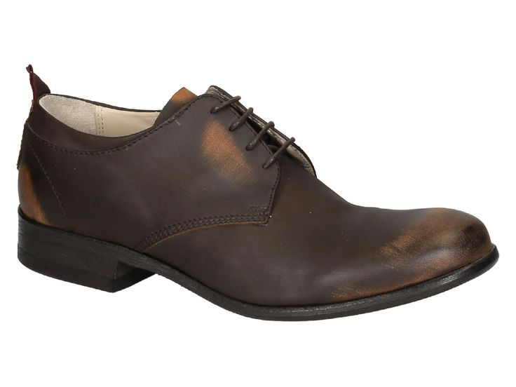 Smith's American mens lace-up in Dark Brown Leather - Italian Boutique €202