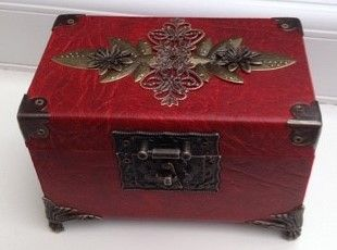 Steampunk box, up-cycled box, leather box, verne industries
