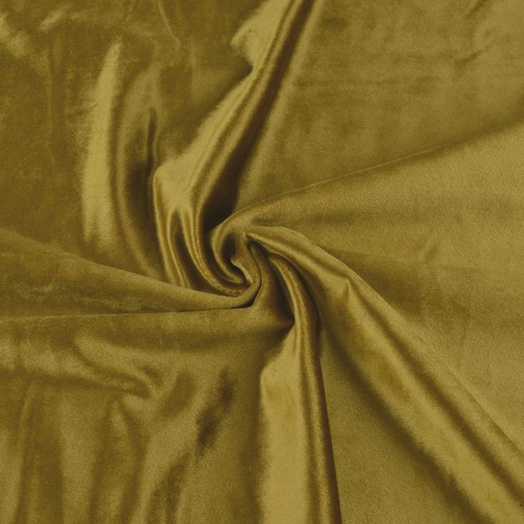 Hotham Beige and Yellow Plain Ready Made Velvet Curtains and Fabrics Satin Sheen Gold Color