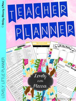 Teacher Planner: Lovely Little Planner Mermaid 2016-2017