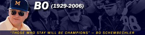 Bo Schembechler...Those who stay will be CHAMPIONS