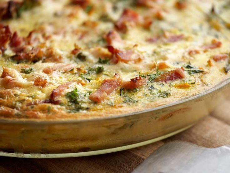 BODENLOS! Die schnelle Quiche | Einfach schnell gesund kochen (Quiche Lorraine-like) very easy recipe!