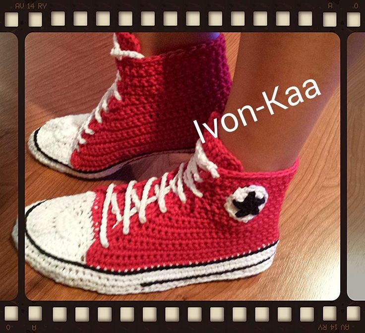 (4) Name: 'Crocheting : Crochet pattern WOMAN inspired converse