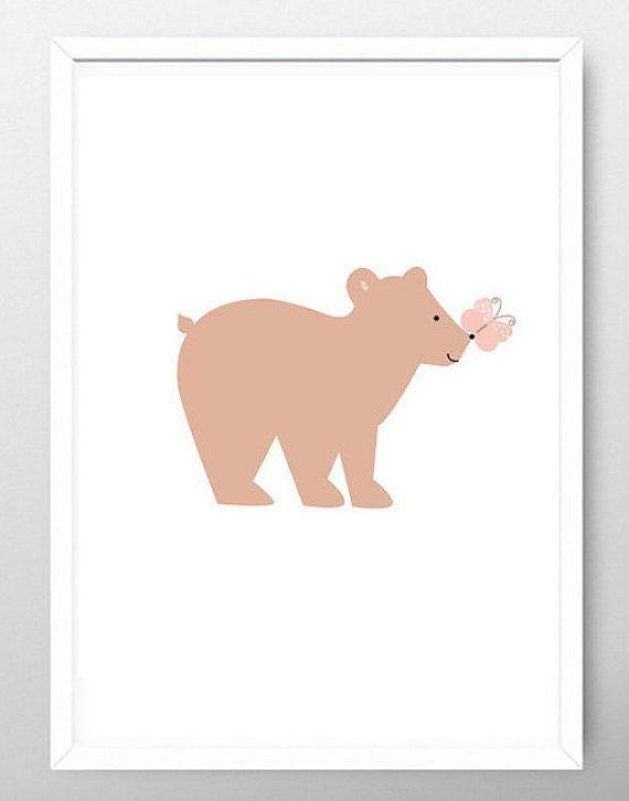 Bear Nursery Print, Bear Nursery Art, Bear Poster, Bear Art Print, Bear Nursery Decor, Kids Nursery Print, Childrens Wall Poster, Bear Print