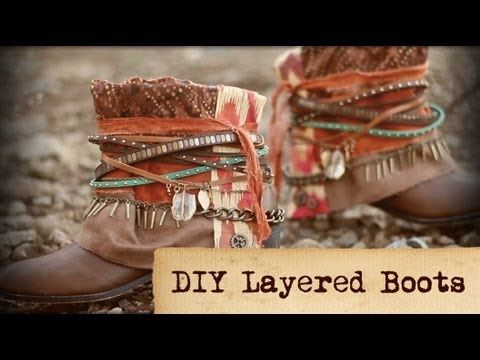 DIY Layered Boots - YouTube