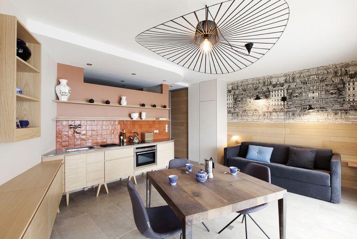 Luminaire studio nice la suspension vertigo de la petite friture marque l 39 espace salle Suspension luminaire salle a manger