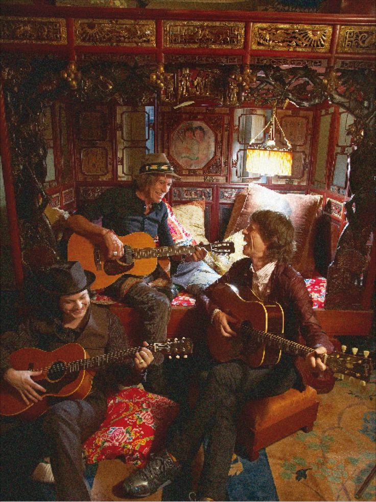 Keith Richards, Mick Jagger, Jack White.