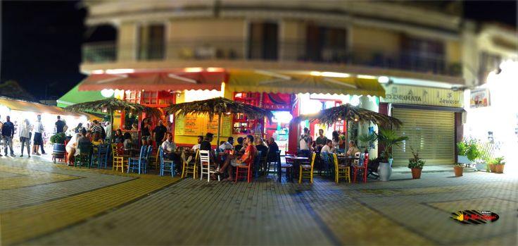Peponaki Karpouzaki Bar, Sarti, Halkidiki, Greece, Nikon Coolpix L310, panorama mode: segment 2, HDR-Art/ Tilt-Shift photography, 2014