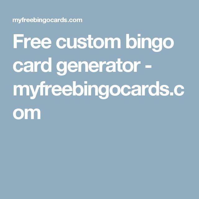 Best 25+ Bingo card generator ideas on Pinterest | Free bingo card ...