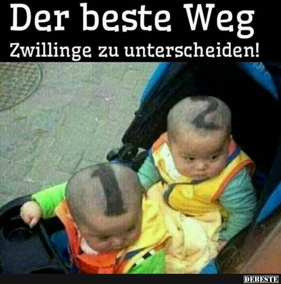 Der beste Weg Zwillinge zu unterscheiden! | Lustige Bilder, Sprüche, Witze, echt lustig
