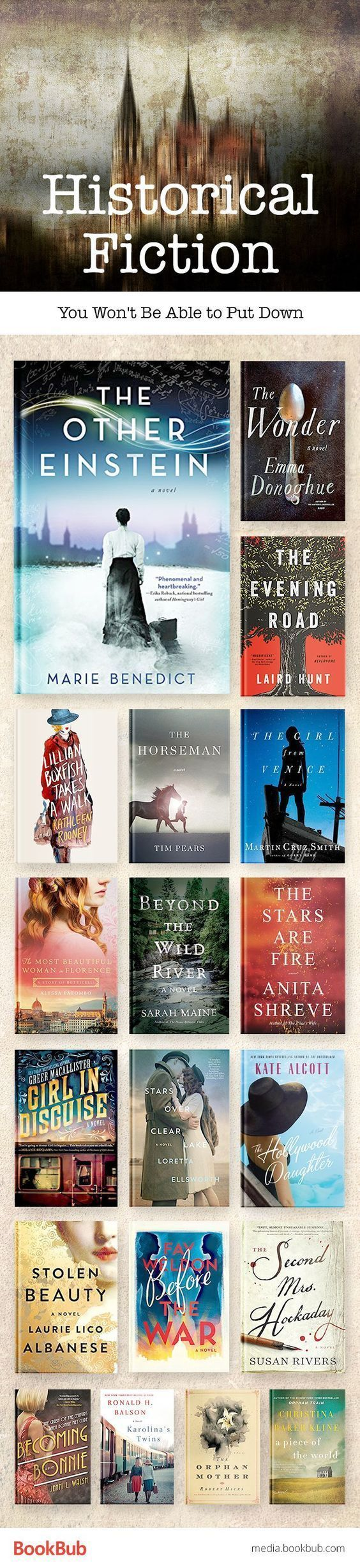 2017 Great historical fiction books you won't be able to put down. If you love history novels, this reading list is for you.