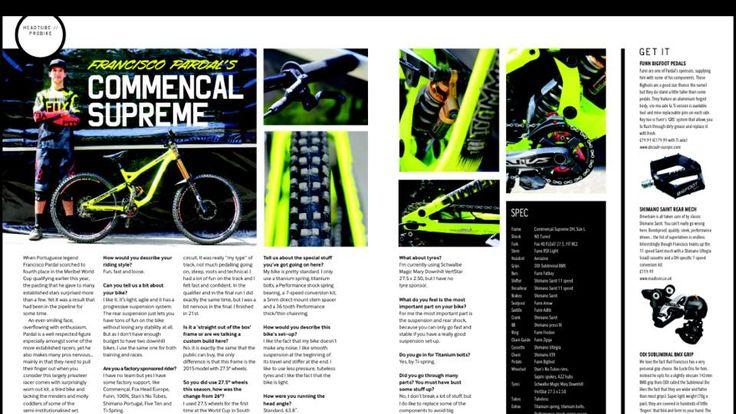 Entrevista de Francisco Pardal para a revista de MTB mais conceituada do mundo, Dirt Magazine! Com destaque ao nosso amortecedor DH 2xRC3 ND Tuned.