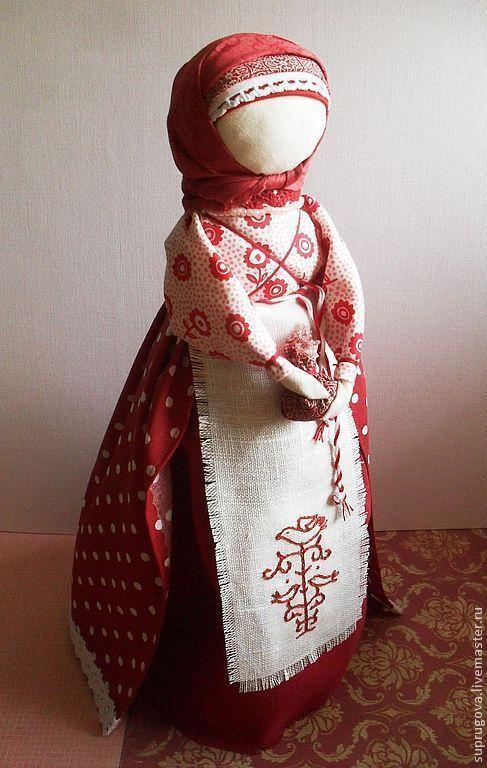 """Купить """"Берегиня дома"""" Рябиновая... - бордовый, берегиня, кукла ручной работы, русская традиция"""