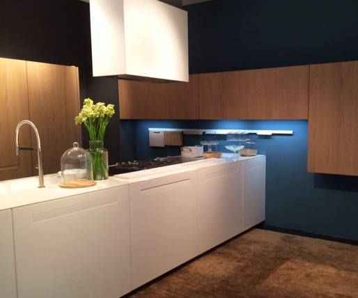 Living spaces blend with #kitchens: the modern day kitchen is situated at the heart of everything #Eurocucina