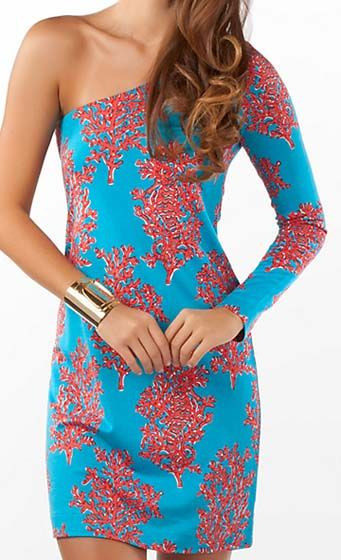 These colors are so perfect together!! Love it: Colors Combos, Lilly Dresses, Fashion, Lilly Pulitzer, Style, Whitak Dresses, Clothing, One Shoulder, Pulitzer Whitak