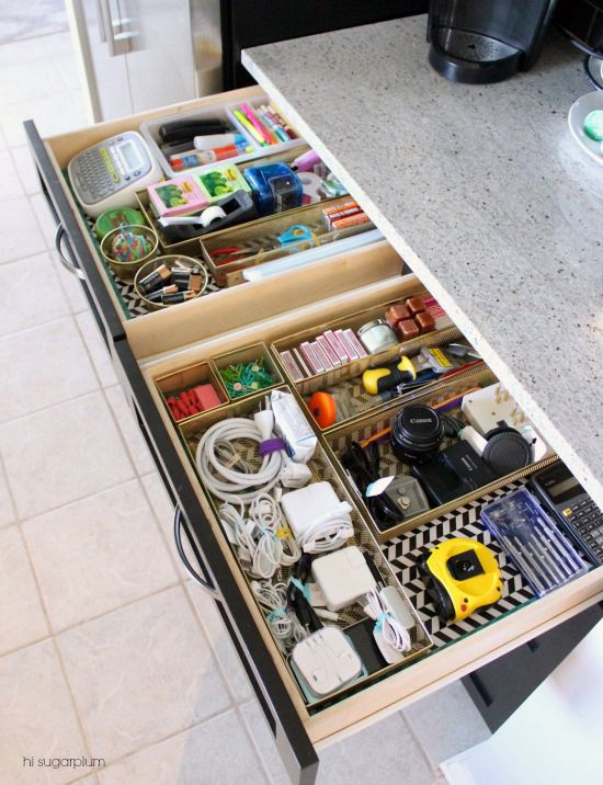 46UHeart Organizing: The Junk Drawers That Went Glam