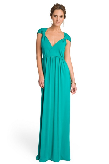 Alice by Temperley Enchanting Emerald Gathered Gown - Seafoam green with a splash of teal make up this gown. Possibly reception dress