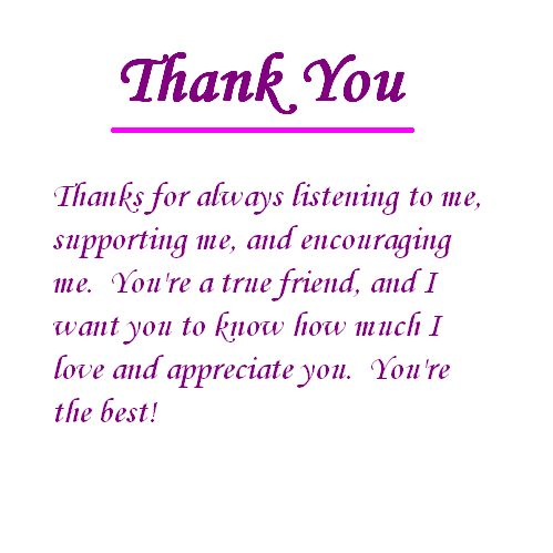 Thanking Someone for Their Friendship | Let a special friend know how important he or she is to you with this ...
