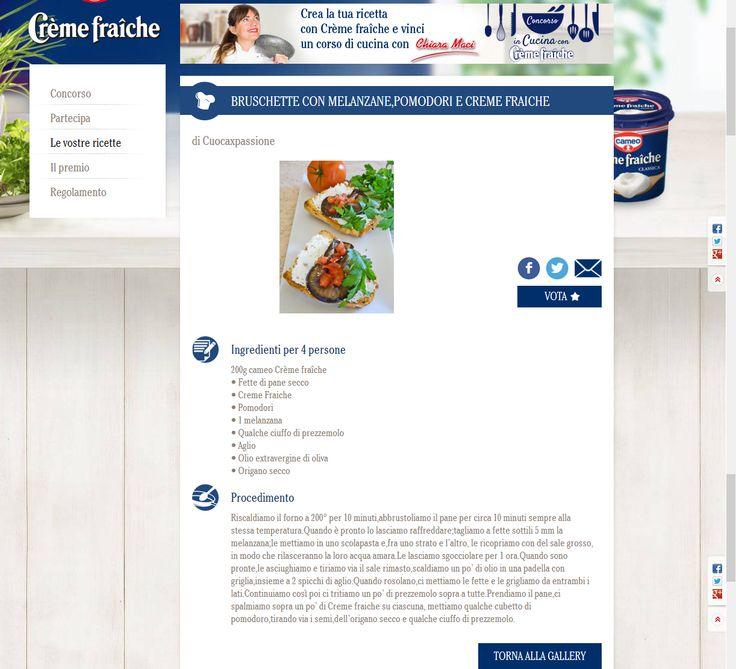 Concorso Creme Fraiche http://www.cameo.it/it-it/in-cucina-con-creme-fraiche.html